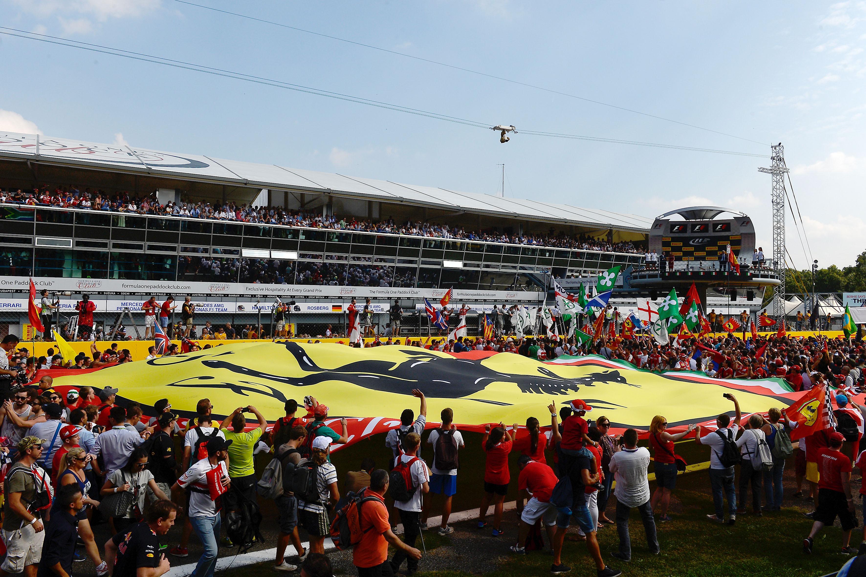 Bandera Ferrari Monza GP Italia 2014
