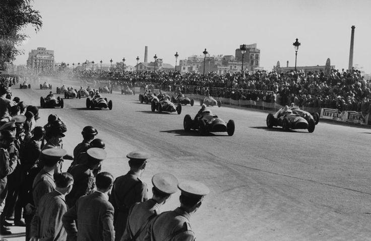 Salida Pedralbes GP 1951