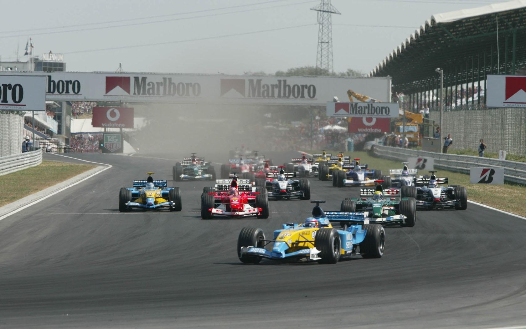 Salida GP Hungria 2003