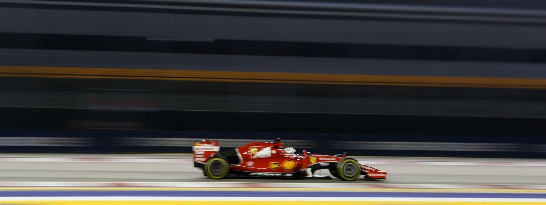 Sebastian Vettel Ferrari Singapur 2015