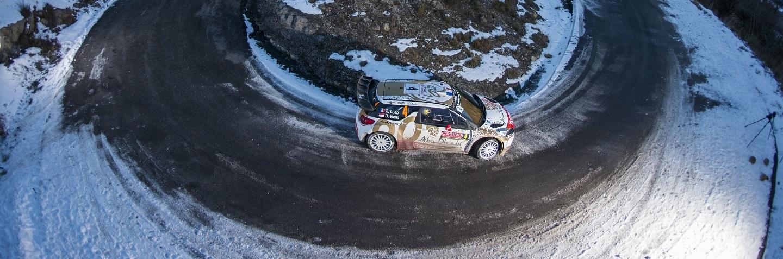Jari-Matti Latvala performs during the FIA World Rally Championship 2015 in Monte Carlo, Monaco on January 23th, 2015