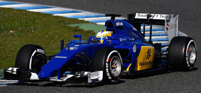 Sauber test 2015