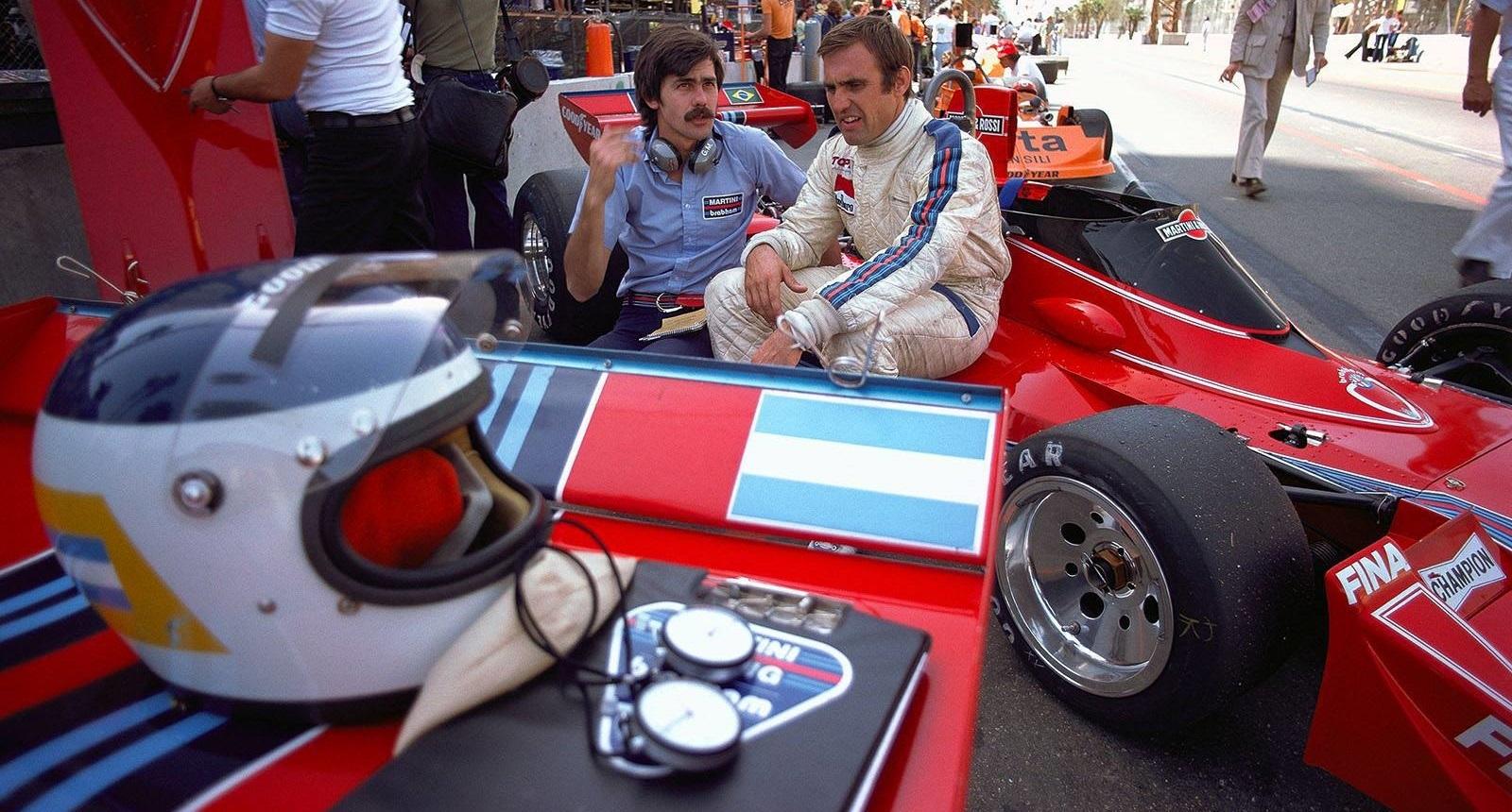 Carlos Reutemann y Gordon Murray