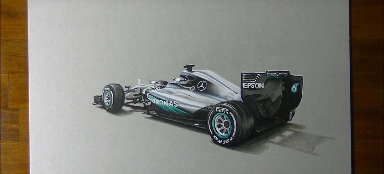 Mercedes W07 dibujo