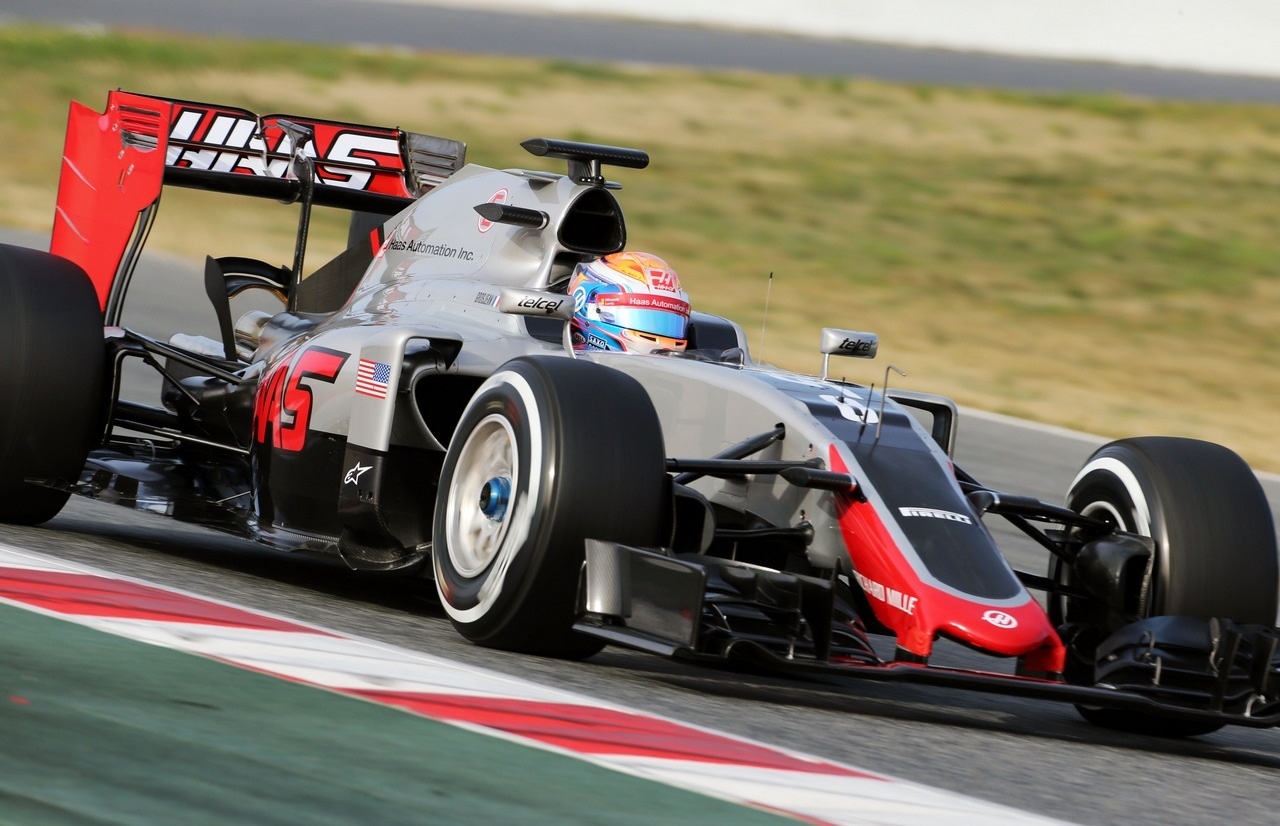Haas VF-16, Test Pretemporada 2016, Romain Grosjean