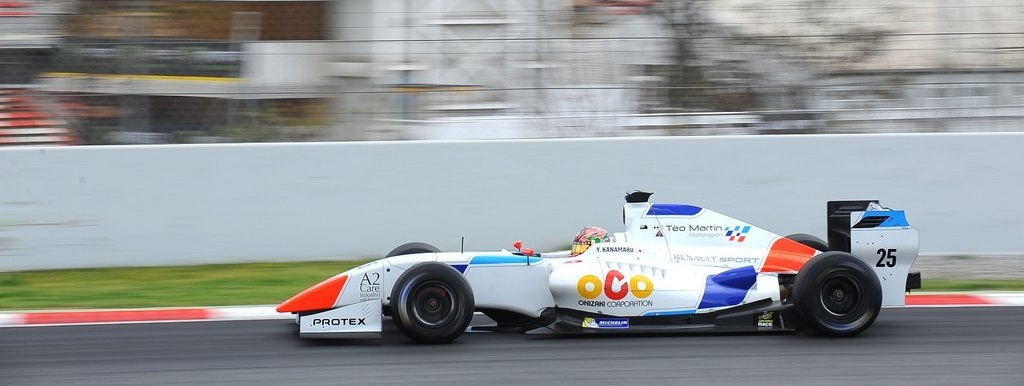 Yu Kanamaru 2016 Test Barcelona Fórmula V8 3.5