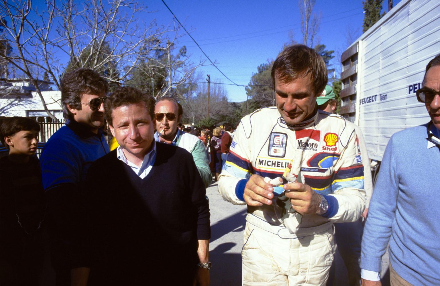 Carlos Reutemann y Jean Todt, 1985