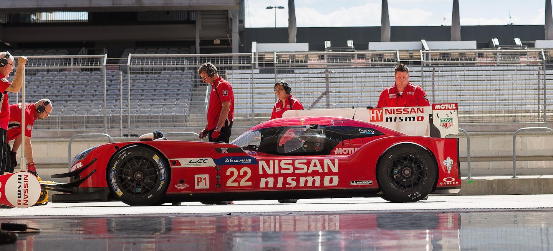 Nissan LMP1 test COTA 2015
