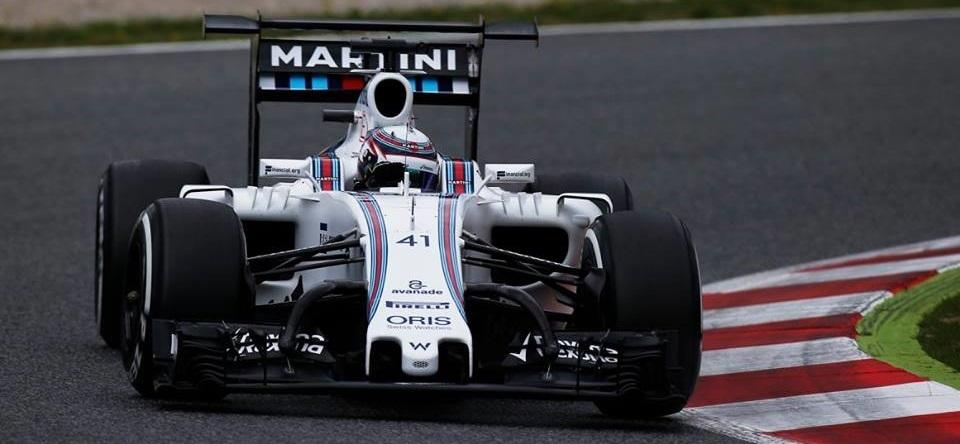 Alex Lynn Williams FW38 Alerón Test
