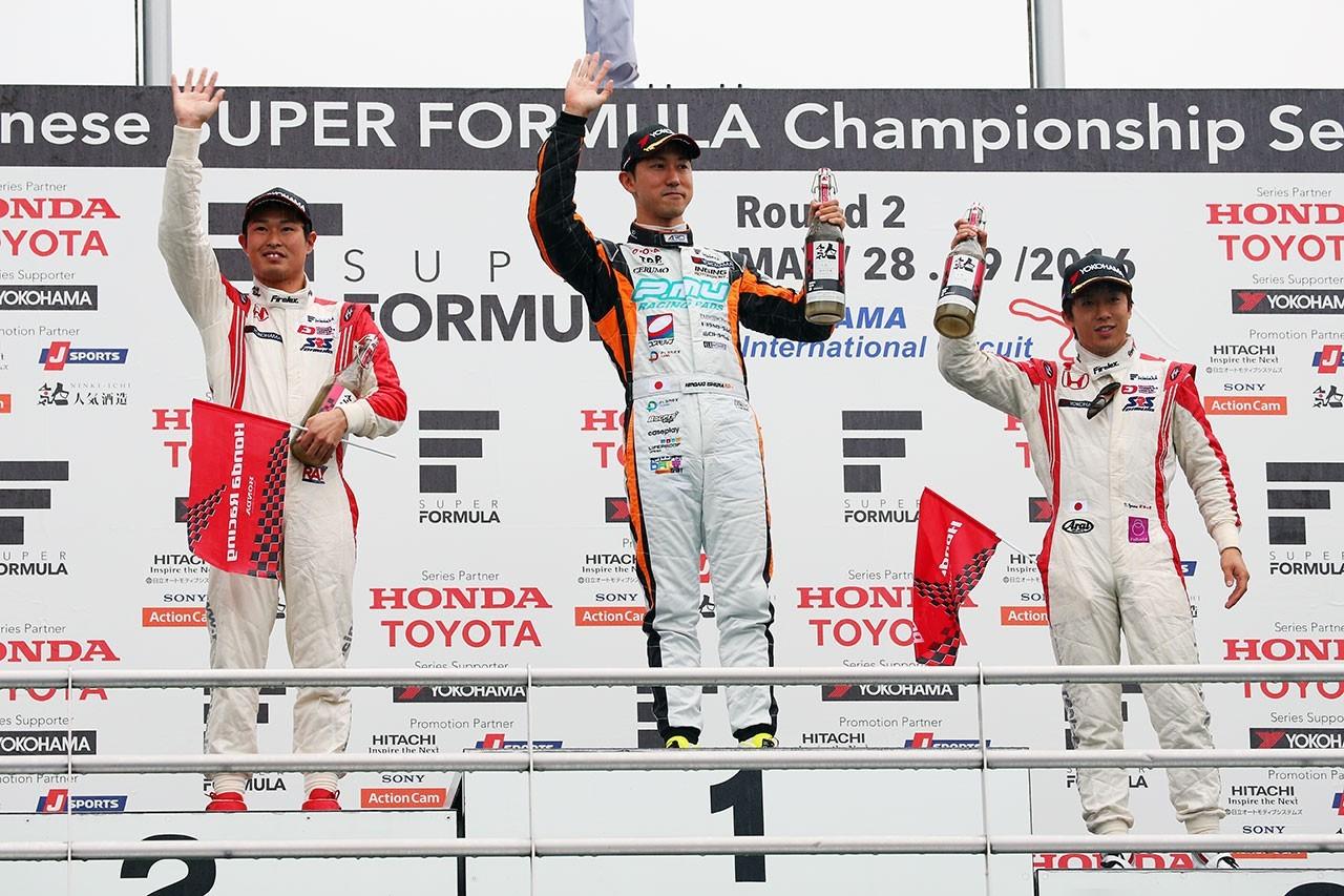 Podio Super Fórmula Okayama 2016