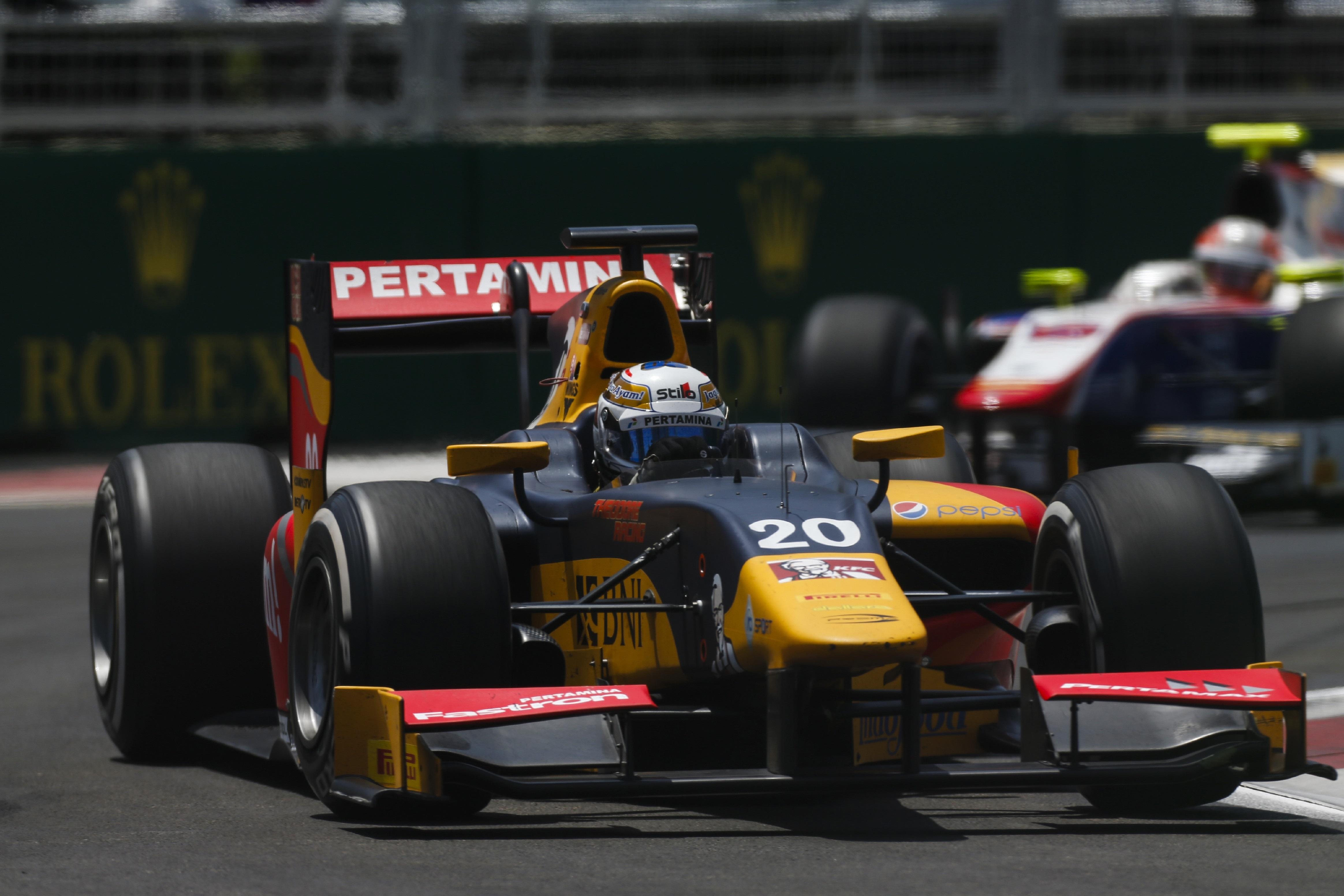 Antonio Giovinazzi GP2 Bakú 2016