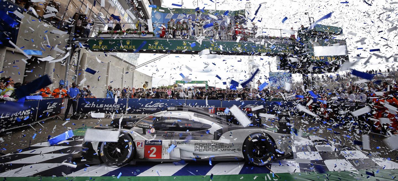 Celebración Porsche Le Mans 2016