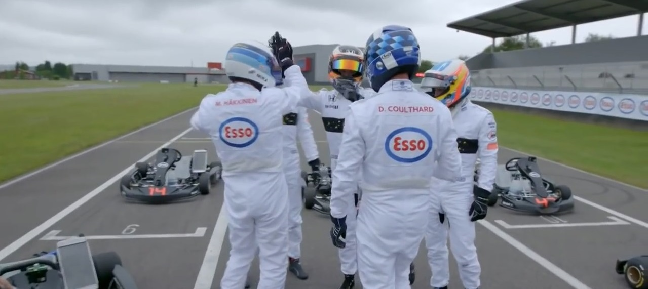 2016 Great Britain - Three Generations of F1 Driver go Go Karting