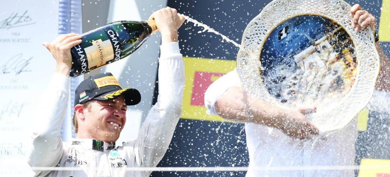 Nico Rosberg podium GP de Hungria 2016