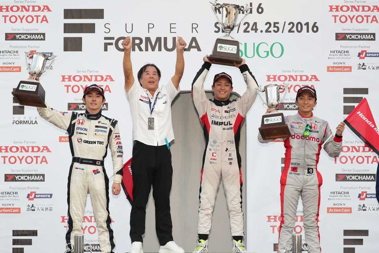 Podio 2016 Super Fórmula Sugo
