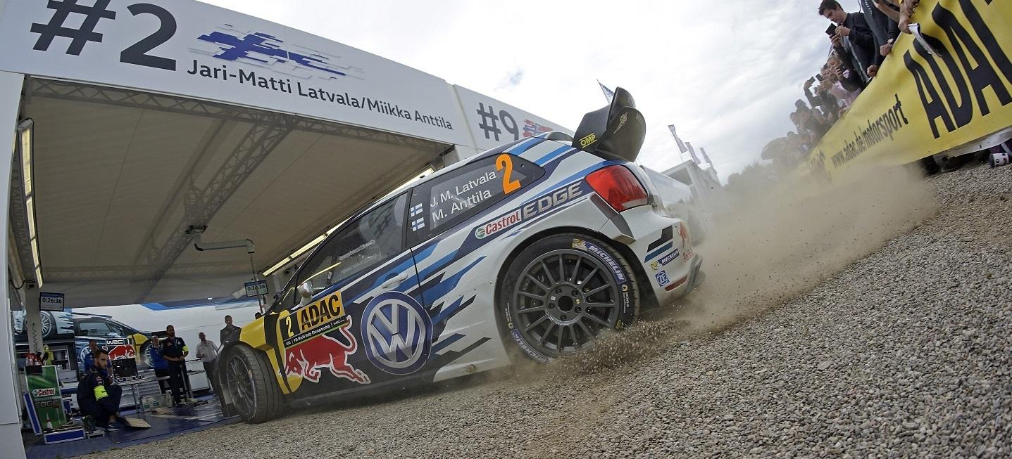 Jari-Matti Latvala (FIN), Miikka Anttila (FIN) Volkswagen Polo R WRC (2016) WRC Rally Germany 2016 Foto: Daniel Roeseler