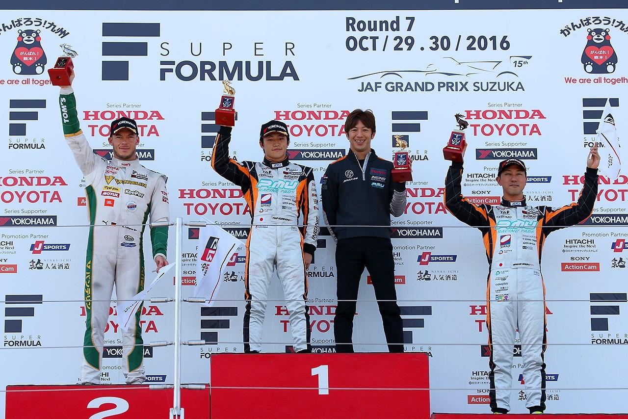 Podio Super Fórmula Suzuka Rd.7 Carrera 1