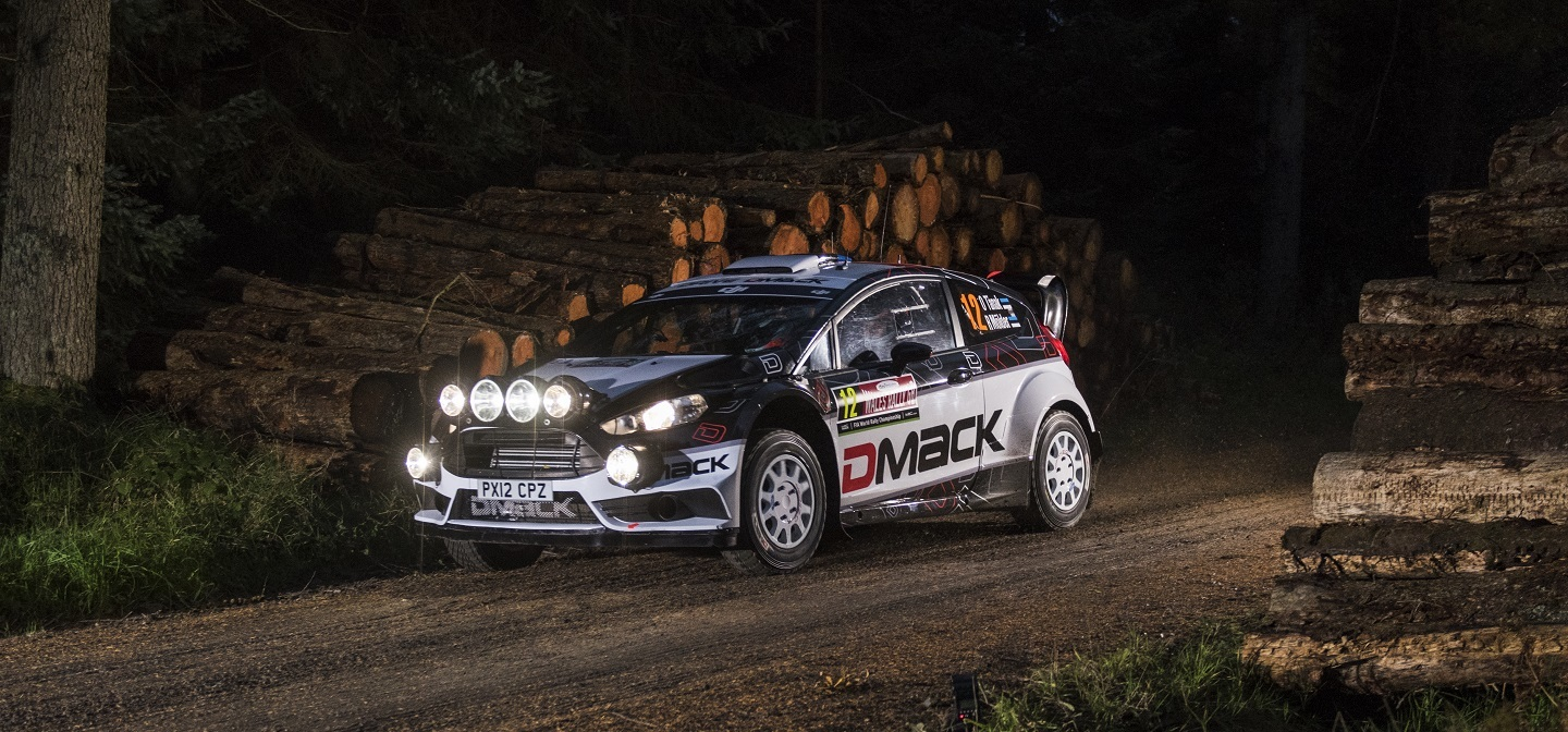 Ott Tanak performs during FIA World Rally Championship in Deeside, Great Britain on 27 November 2016