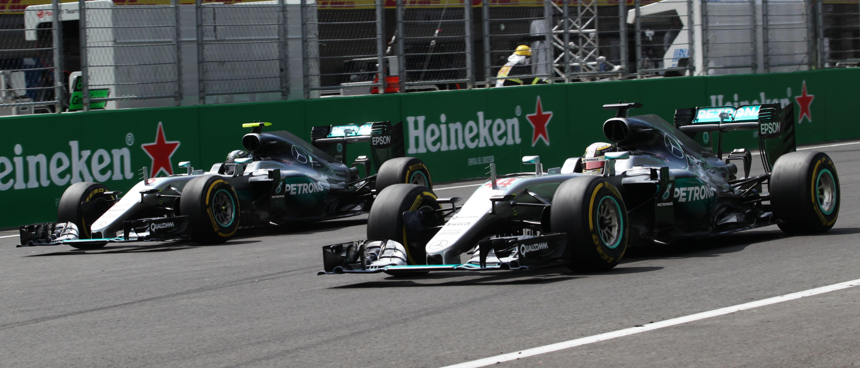 Lewis Hamilton, Nico Rosberg, GP México 2016
