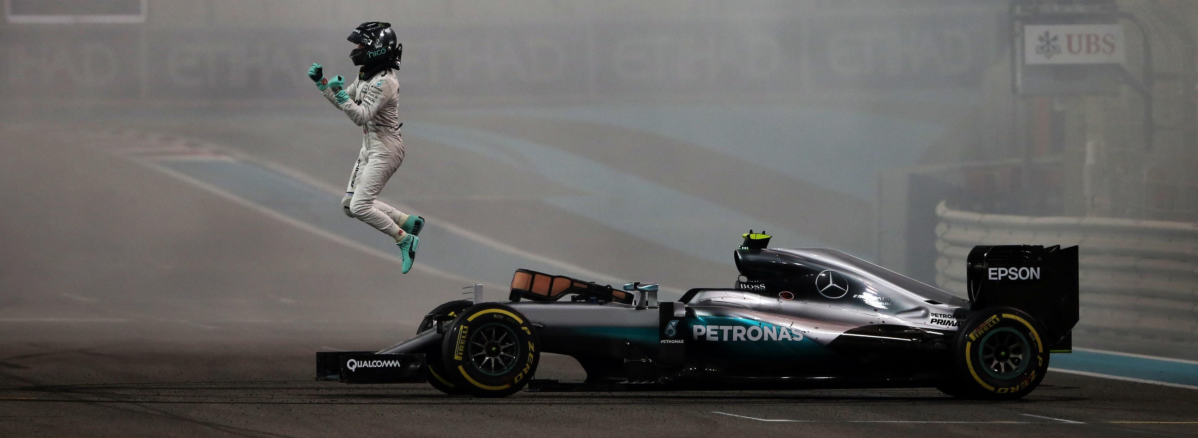 Nico Rosberg GP Abu Dhabi 2016 Celebración
