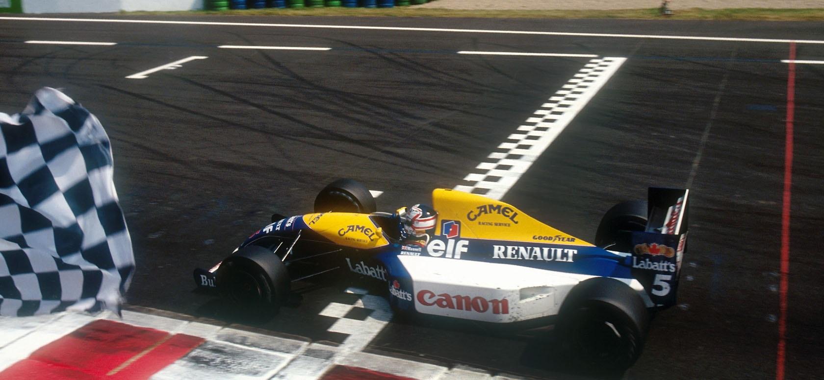 Nigel Mansell GP Francia 1991
