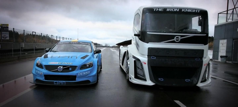 volvo-trucks-the-iron-knight-vs-volvo-s60-polestar
