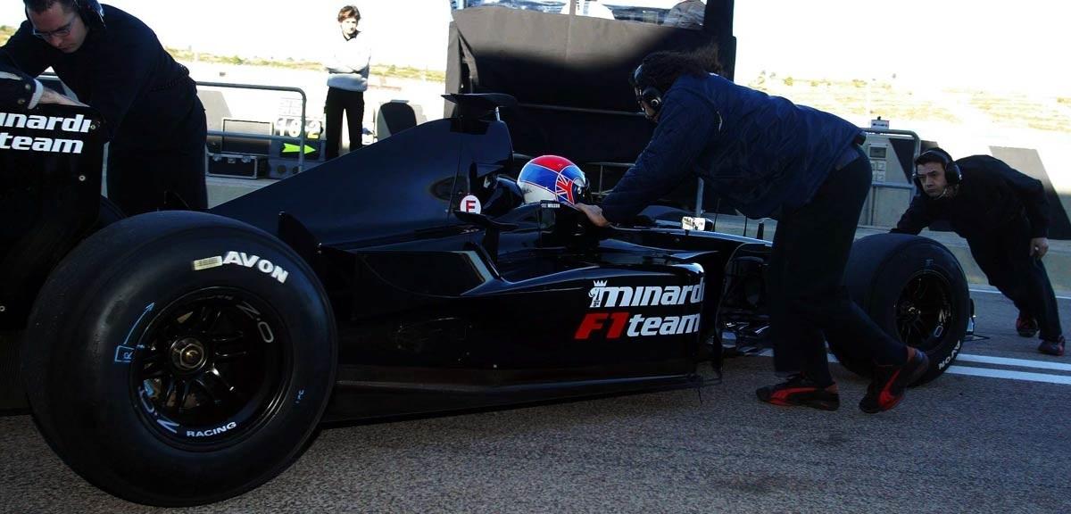 Justin Wilson Test Minardi 2003 Avon