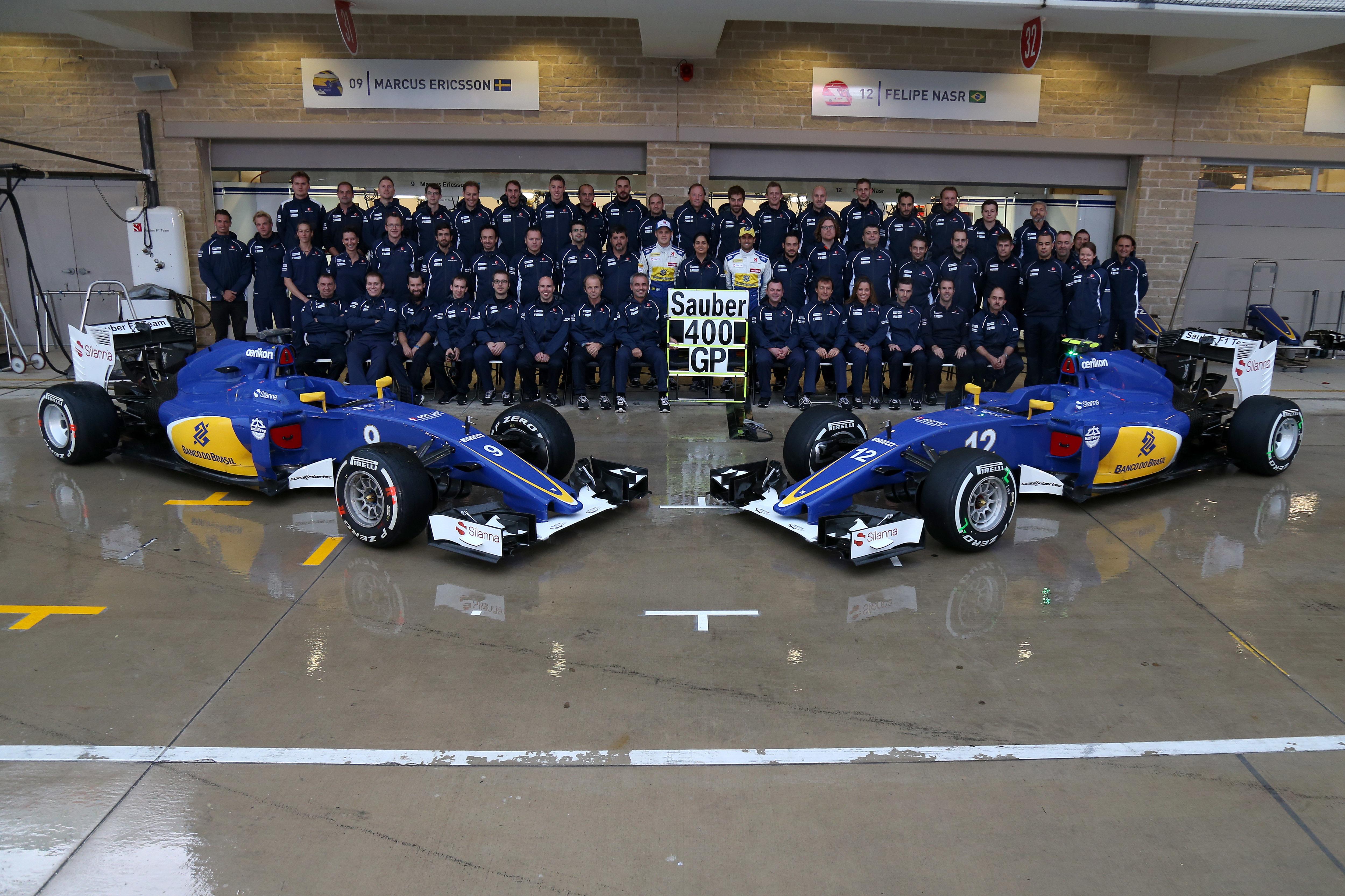 Sauber GP EE.UU. 2015 Equipo