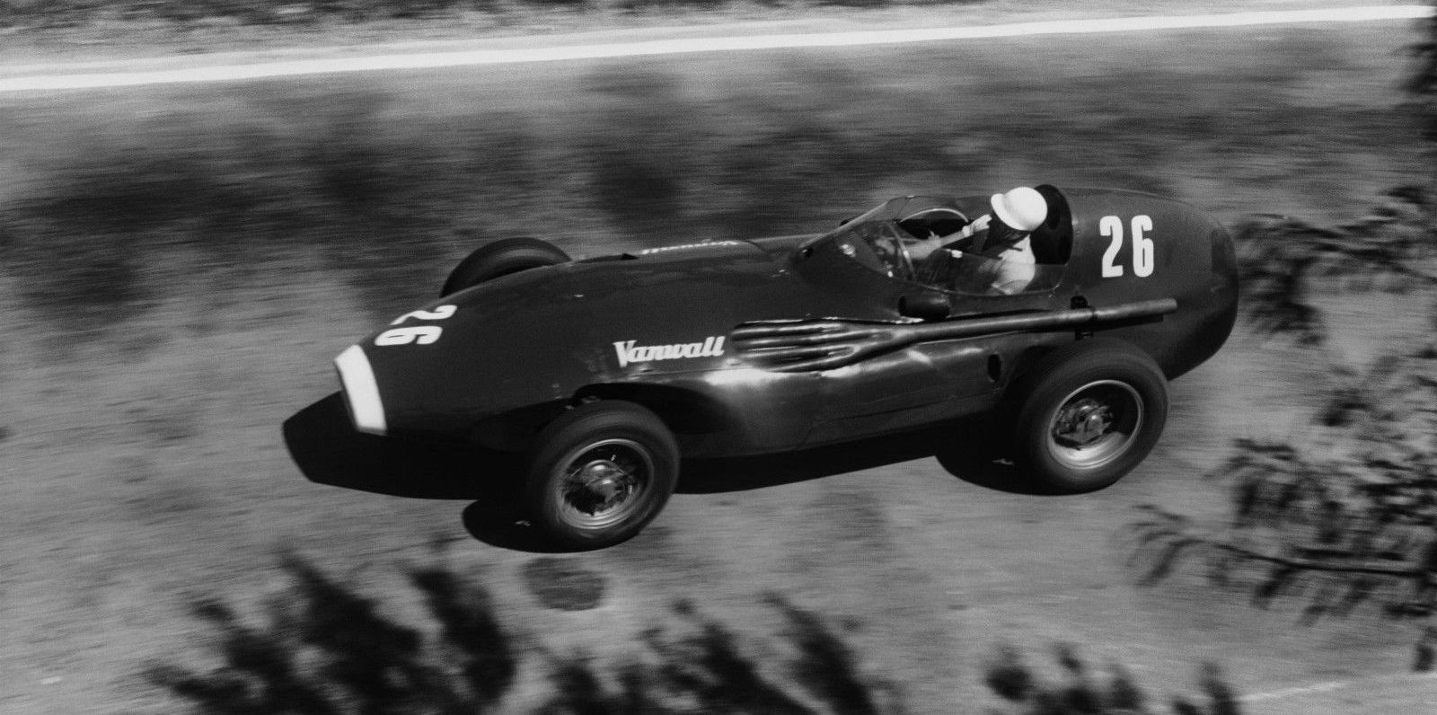 Stirling Moss Vanwall Pescara 1957 F1