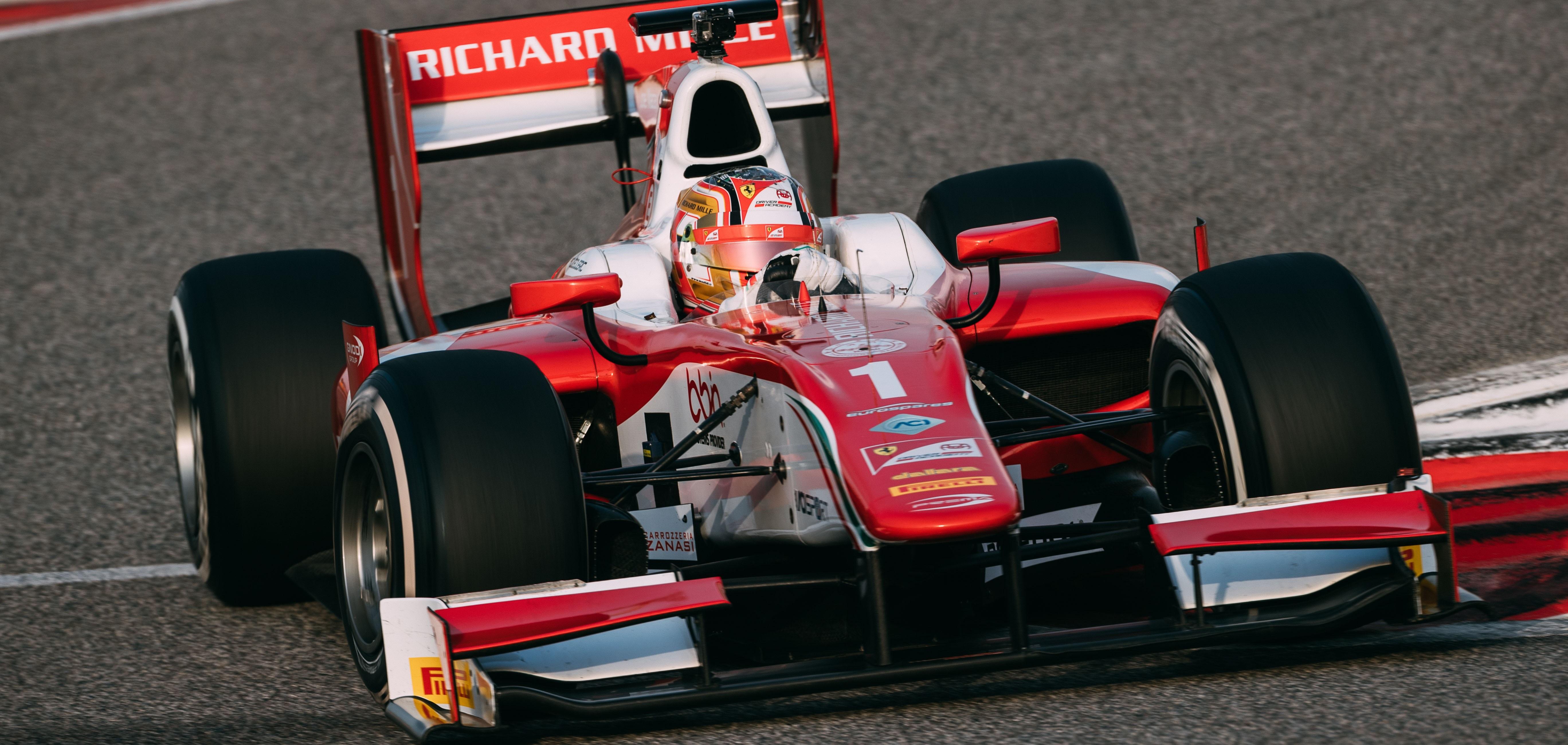 Charles Leclerc F2 Test 2017 Bahréin Día 1