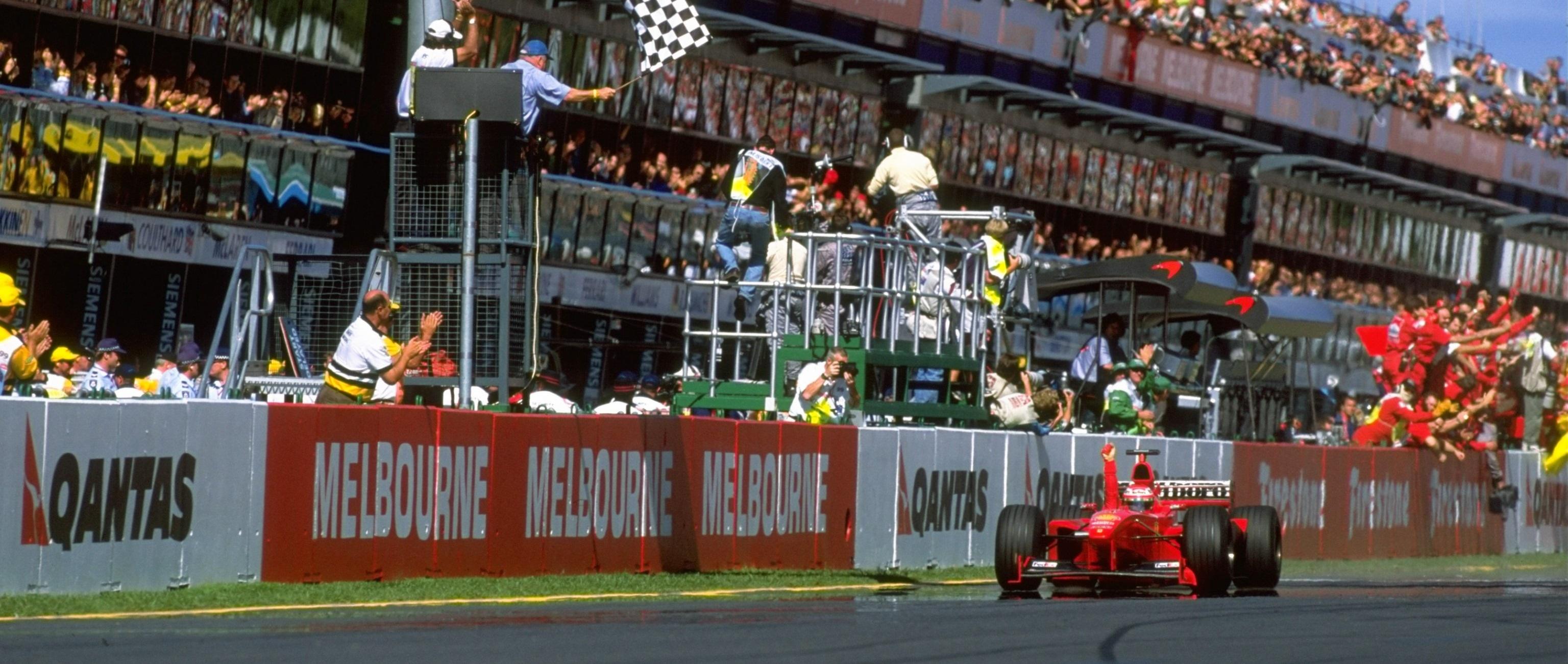 Eddie Irvine Bandera de cuadros GP Australia 1999