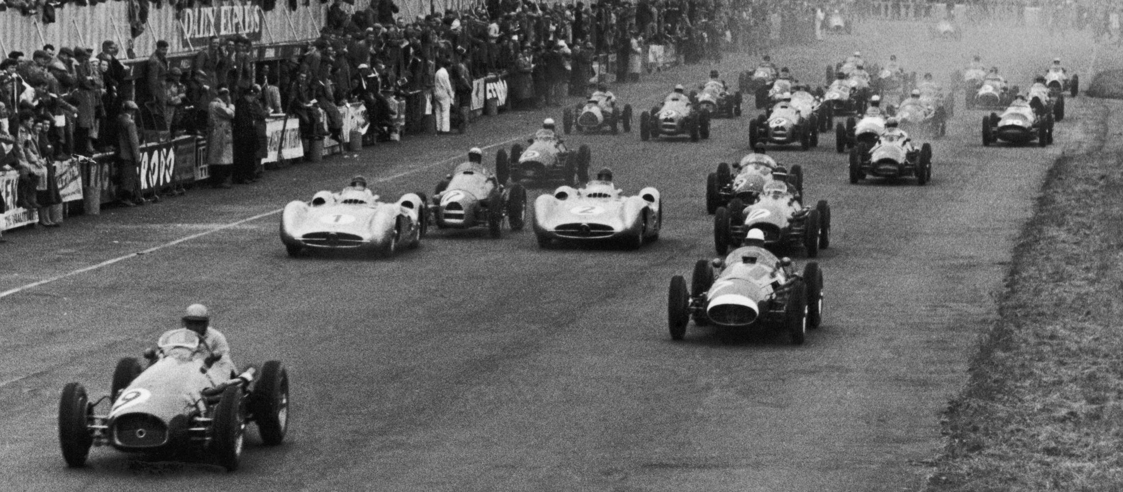 Salida GP Gran Bretaña 1954