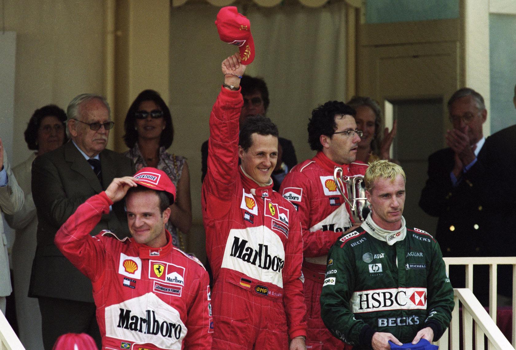 Podio GP Mónaco 2001