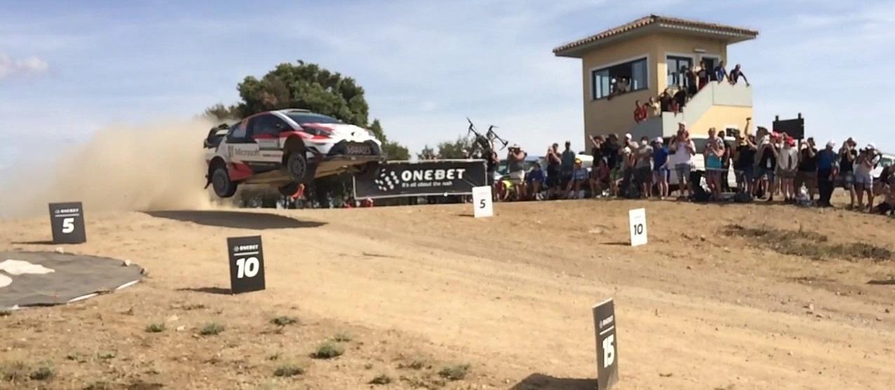 WRC Monte Lerno Micky's Jump Esapekka Lappi-Jane Ferm hits Dron
