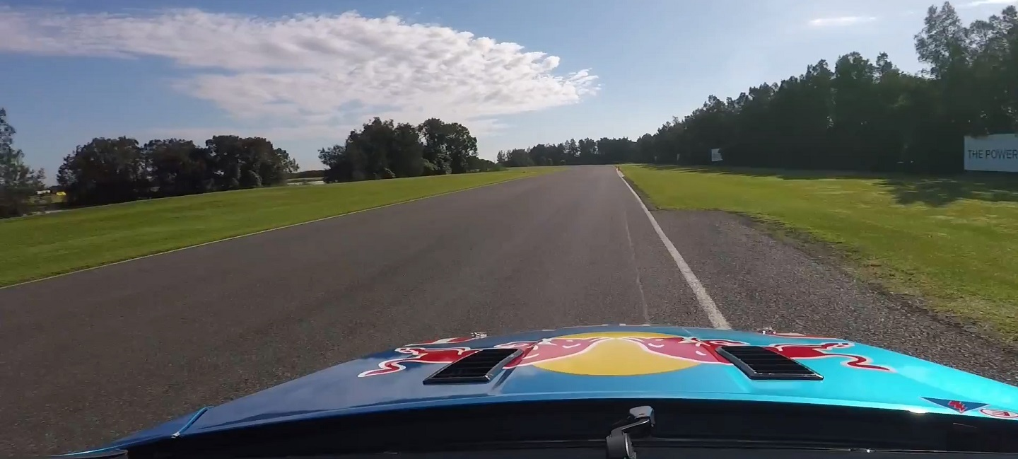 Craig Lowndes drives the Holden V6 Twin Turbo Supercar