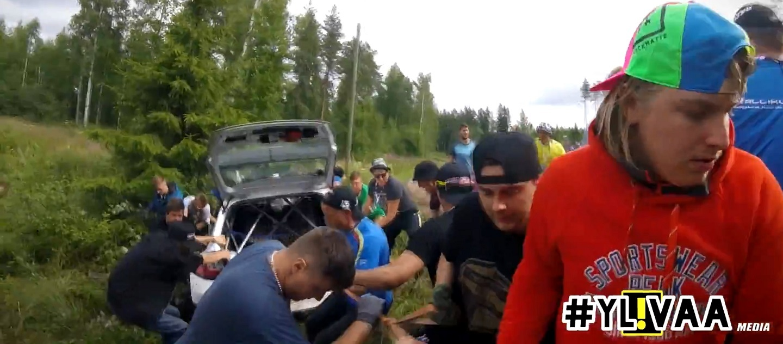 NESTE RALLY FINLAND 2017 _ 15 CRASHES _ SPECTATOR HEAD