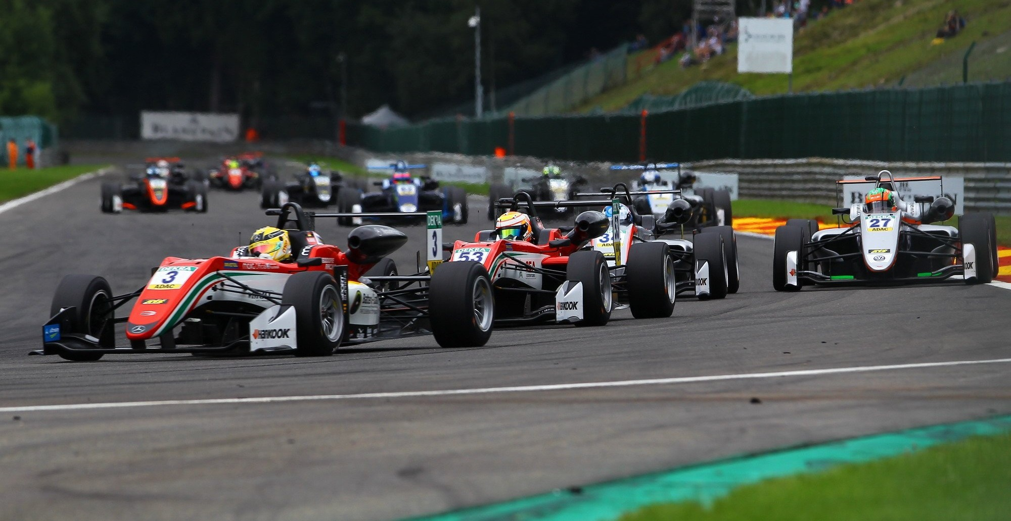 Salida Fórmula 3 Spa 2017