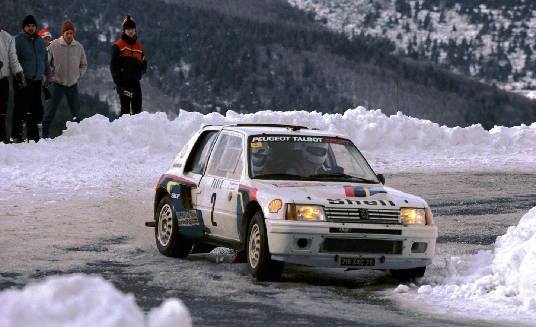 018 - WRC 1985. RMC. Vatanen/Harryman. Peugeot 205 Turbo 16. Vainqueur