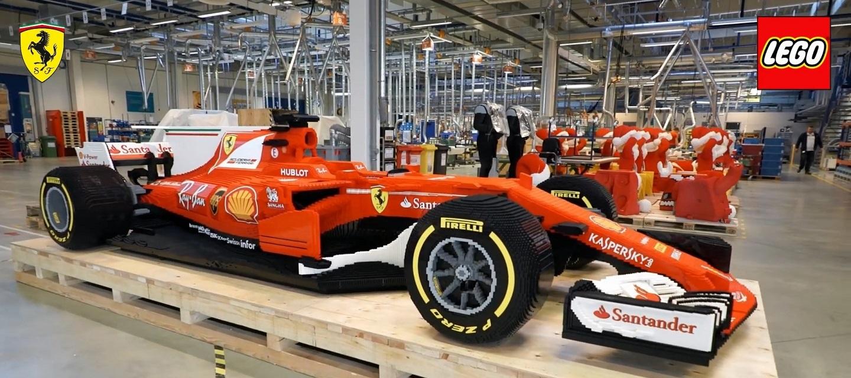 Life size version Ferrari SF70H - LEGOSpeedChampions - Timelapse