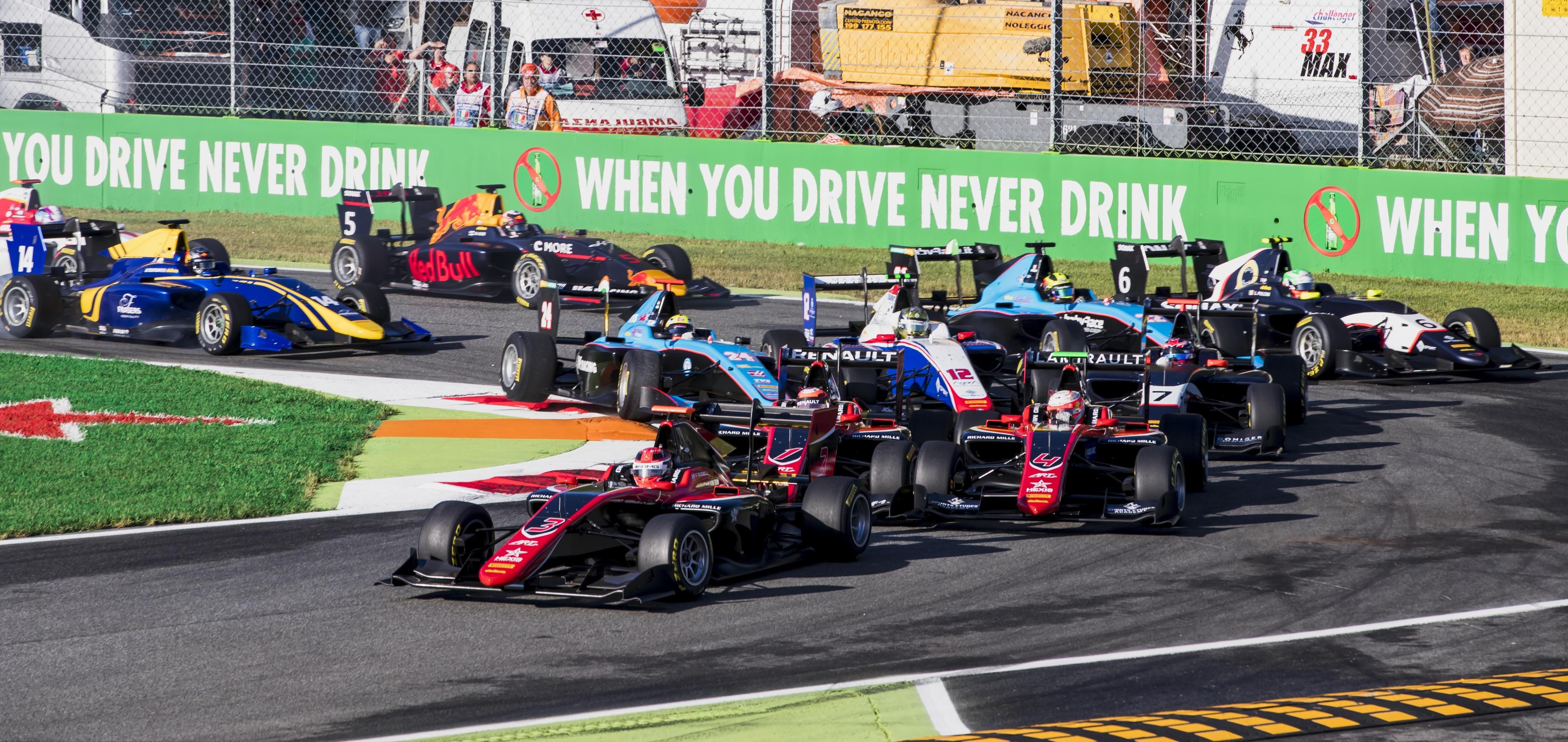 Salida GP3 Monza 2017