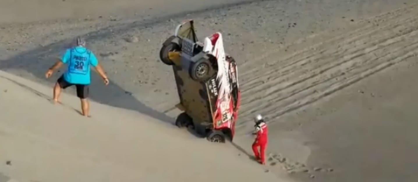 Rallye Dakar 2018 Crash Toyota ALEJANDRO MIGUEL YACOPINI