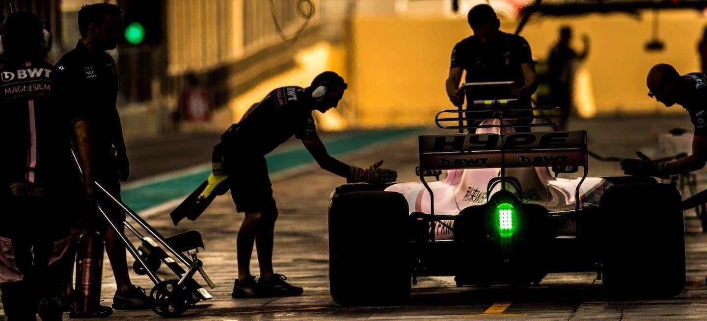 Force India box test pre 2018