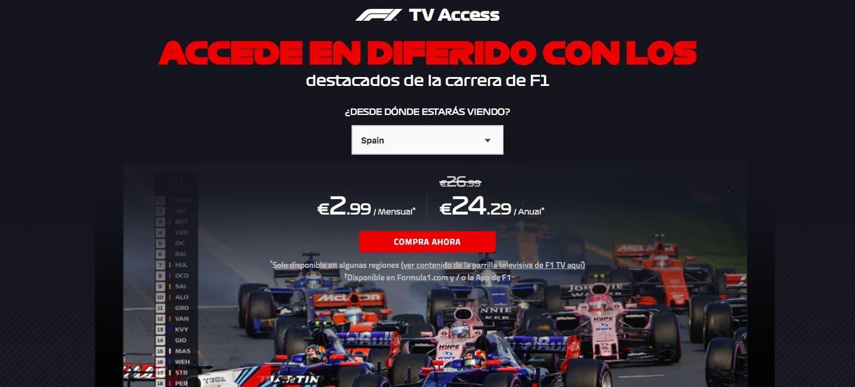 F1TV Access 2018