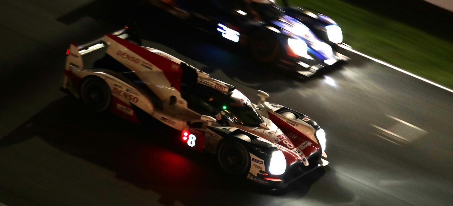 Alonso noche Toyota Le Mans 2018
