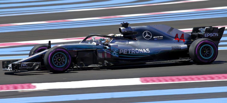 Hamilton pole Francia 2018