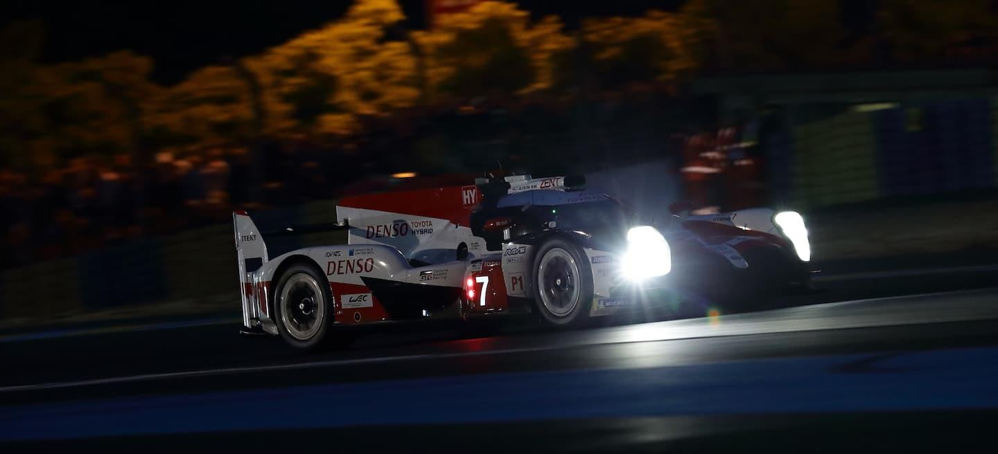 Toyota 7 medianoche Le Mans 2018