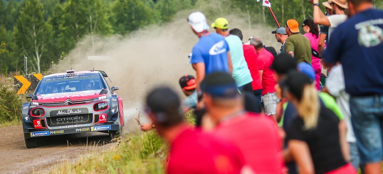 Ostberg shakedown etapa Finlandia 2018
