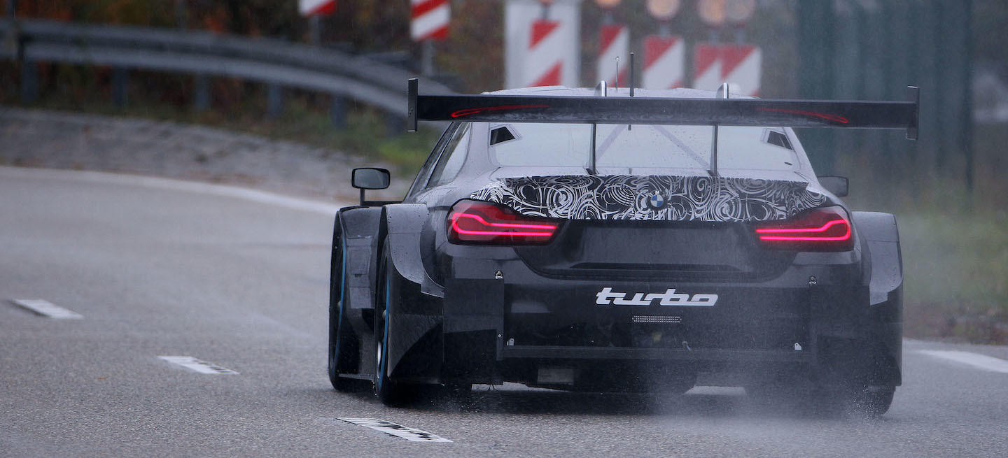 BMW M4 DTM turbo test 2018