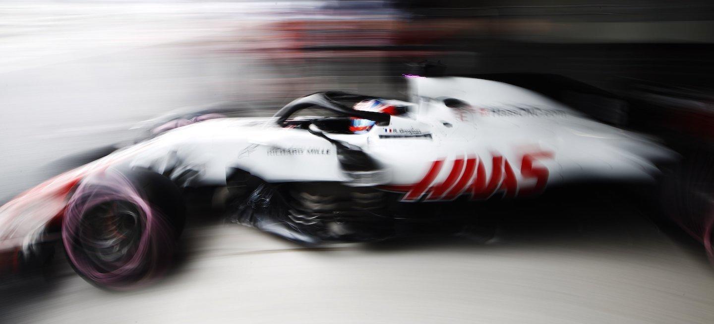 Grosjean barrido Haas 2018