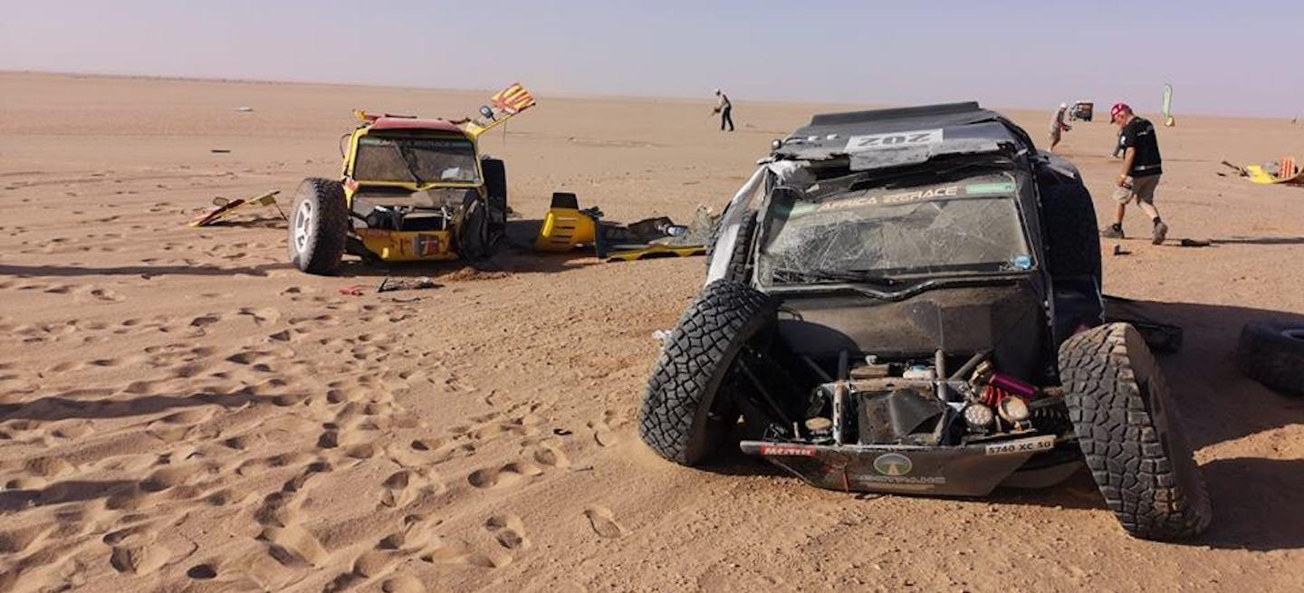 Accidente Africa Eco Race 2019